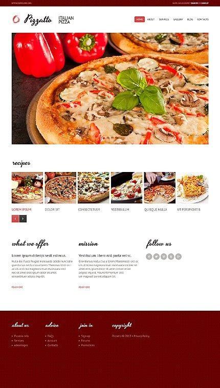 pizza shop website template pizza shop website template business template