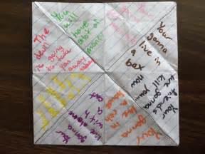 paper fortune teller quotes quotesgram