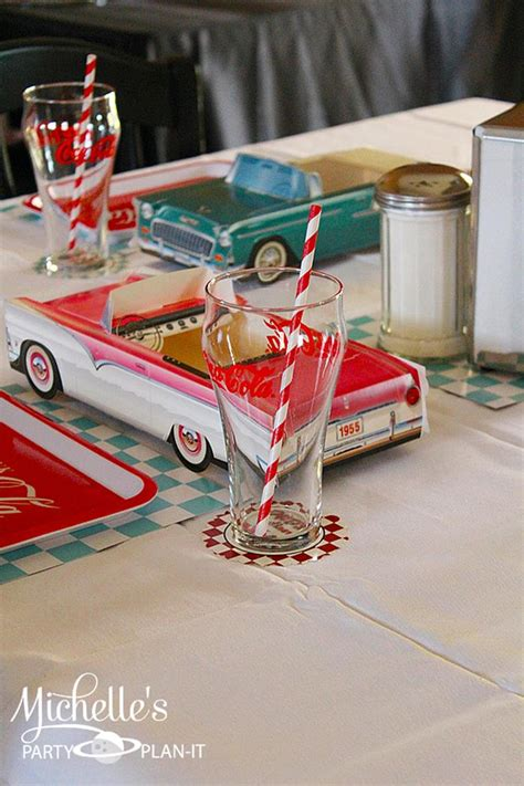 diner theme decorations kara s ideas 1950 s diner via karaspartyideas