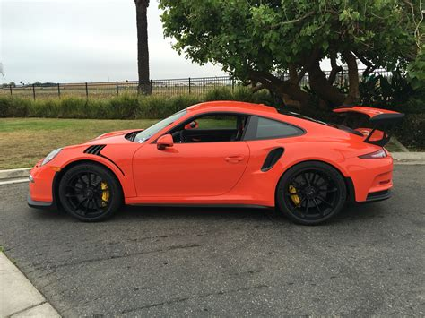 lava orange porsche my lava orange gt3 rs is here rennlist porsche
