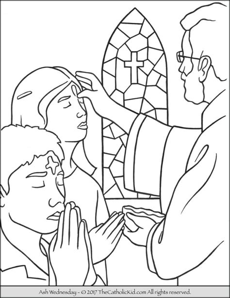 printable coloring pages for ash wednesday coloring pages