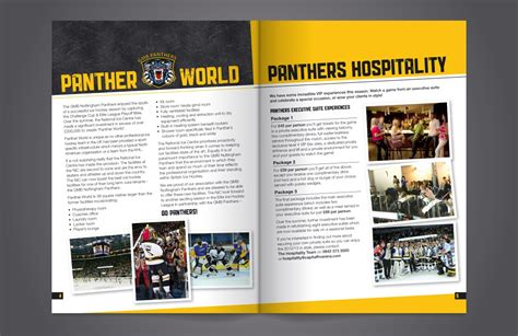 leaflet design nottingham nottingham panthers brochure design by blu 72 creative