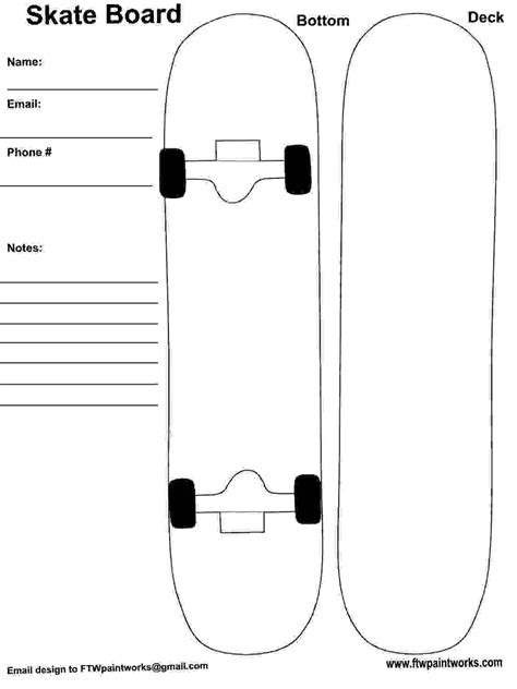 Skateboard Deck Designs Template Print Google Search 1st Day Of School Pinterest Design Skateboard Design Template