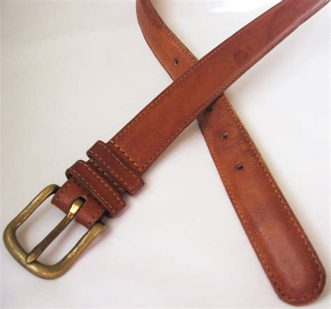 coach mens leather belt size 34 brown
