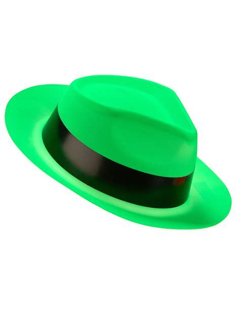 imagenes de sombreros verdes fluo green gangster hat for adults hats and fancy dress