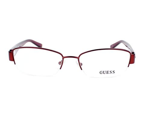 Frame Kacamata 2378 Coklat 4 guess eyeglasses gu 2378 bu burgundy visionet