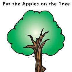 fine motor apple math game for preschool
