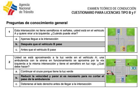 preguntas ant licencia tipo b pdf preguntas para sacar licencia de conducir tipo b conmicelu