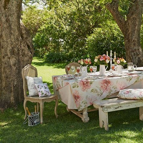 summer garden with shabby chic furniture summer garden ideas housetohome co uk