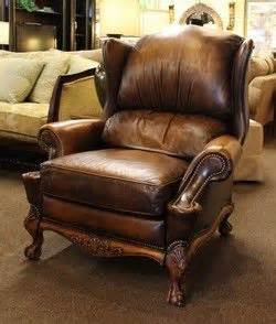 Black Oversized Recliner Brown Leather Oversized Wingback Recliner By Hancock