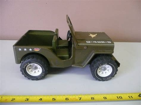 tonka army jeep vintage tonka us army military jeep green g 452 8 black