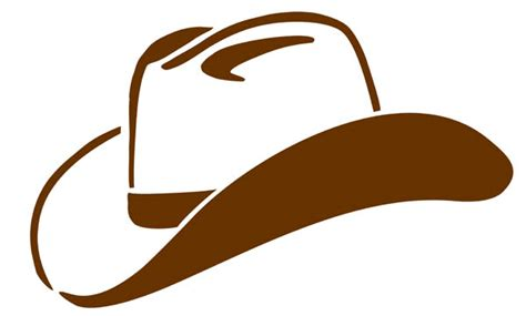 cowboy hat clipart black and white free cliparting com