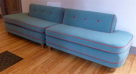 Before After Funky 50s Flexsteel Sectional Sofa Funky Sectional Sofas