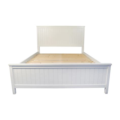 pottery barn bed frame 51 off pottery barn pottery barn wooden queen sized bed frame beds