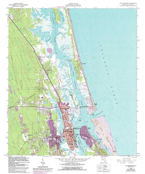 map of florida showing st augustine augustine topographic map fl usgs topo 29081h3