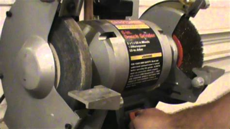 how to balance bench grinder wheels how to dress a grinding wheel youtube