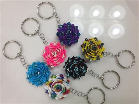 Handmade Fabric Keyrings - how to make duct crafts 25 exles bored