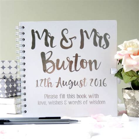 wedding registry book ideas personalised mr and mrs wedding guest book by the alphabet