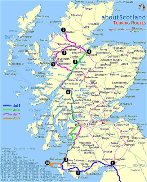 Detailed map of the Scottish part of the trip   Flickr