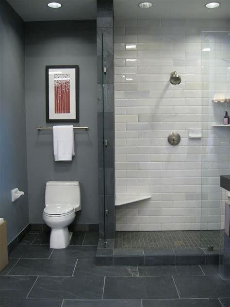 grey and white tile bathroom home design exles
