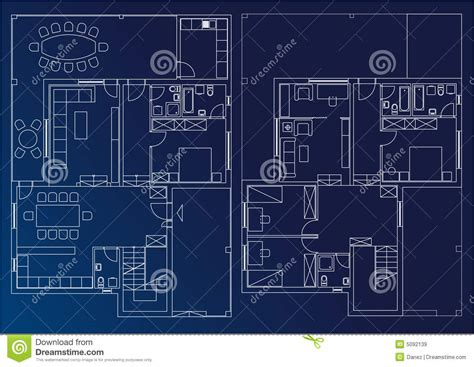 blue prints of houses blueprint home stock illustration image of home