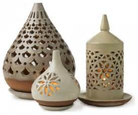 Candle Wall Sconce Set Egyptian Ceramic Lanterns Vivaterra Eclectic