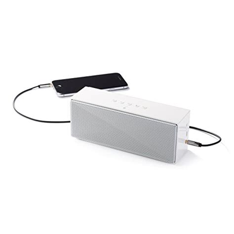 Amazonbasics Bluetooth by Amazonbasics Wireless Bluetooth Dual 3w Speaker With Built In Microphone White
