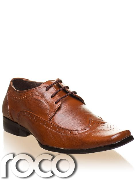 Bennet Original Handmade Shoes boys brown fashionable oxford style formal brogue wedding