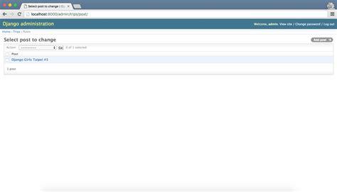 django tutorial create superuser admin 183 django girls 學習指南