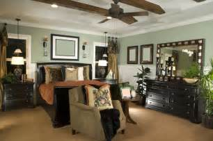 Bedroom color scheme in white mint green light brown and dark brown