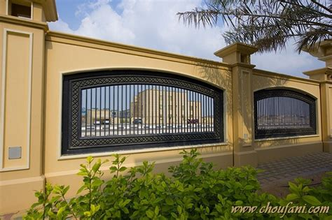 Outer Wall Design Architecture by Boundary Wall 2b Choufani Wrought Iron Interior Design