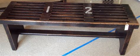 wood locker room benches gym locker room bench of reclaimed wood at 1stdibs