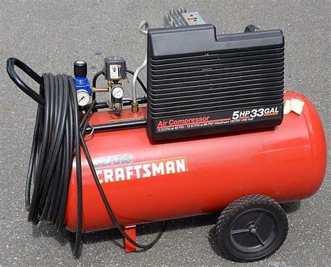 sears craftsman 5hp 33 gal air compressor