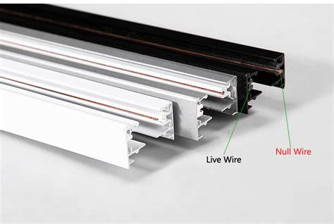 track series 2 3 4 wire track rail ul listed single 3 phases 0 5m 1m for led track