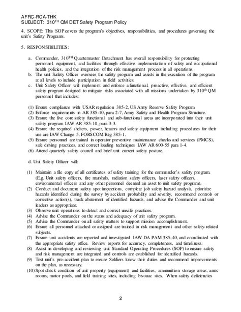 hazmat appointment letter usmc safety and occupational health performance program
