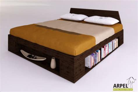 letto con libreria letto zen plus con moduli libreria in legno di faggio