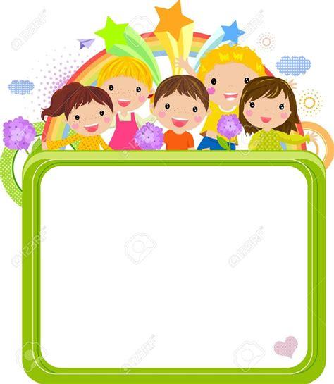 design frame cartoon cute school clipart horizontal border clipground