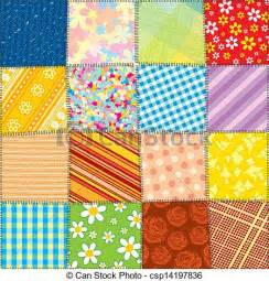 patchwork quilt clipart