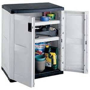 outdoor storage cabinet with 2 shelves gray black