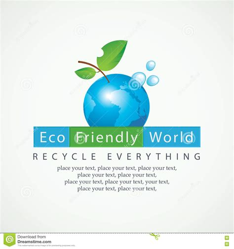 Eco Eco Clean And Eco Friendly by Eco Friendly World And Recycle Everything Stock Vector