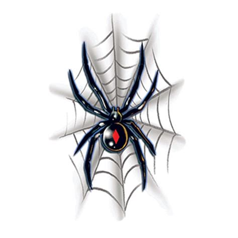 black widow temporary tattoo usimprints