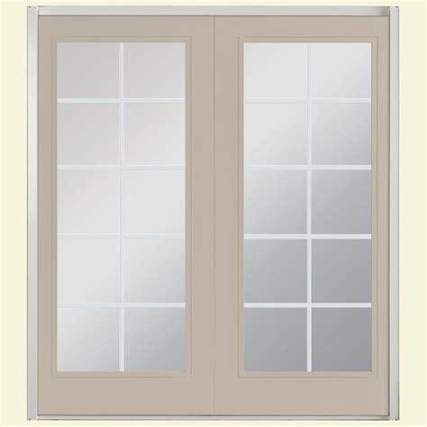 Masonite Patio Door Masonite 72 In X 80 In View Prehung Right Inswing 10 Lite Fiberglass Patio Door