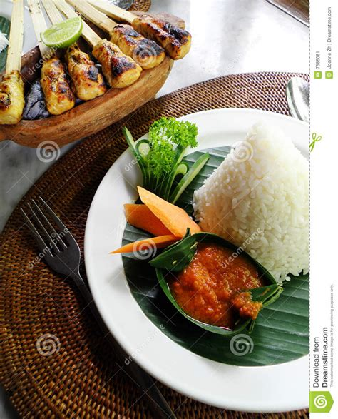 Kebab Balifood ethnic asian food of bali sate kebabs stock image image 7686081