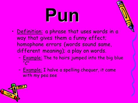 exle of a pun figurative language the to show writing ppt
