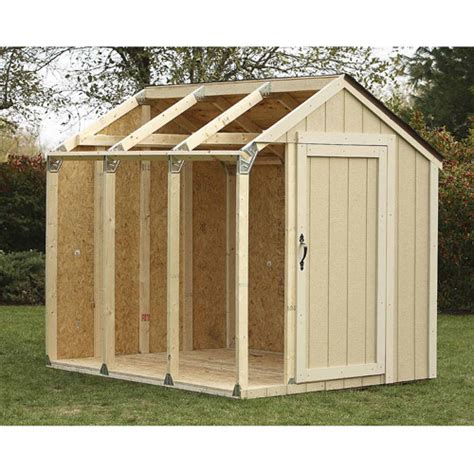 Framing Kit Shed by Peak Roof Shed Kit Walmart