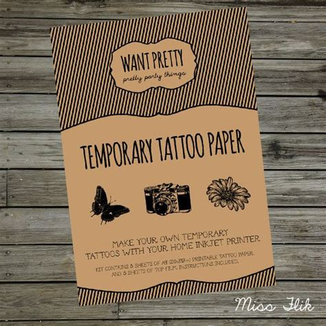 temporary tattoo printer paper michaels printable tatoo paper printable paper