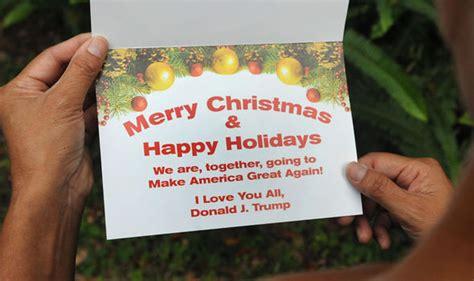 donald trump sends  christmas message   uncharacteristically politically correct