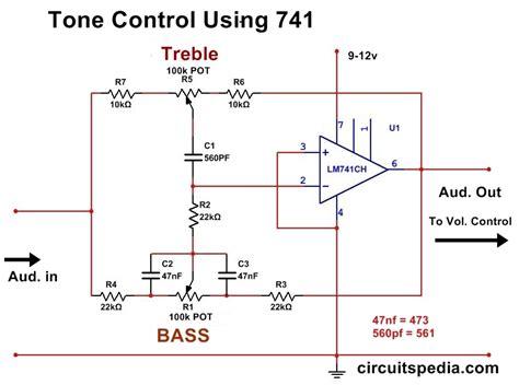 bass treble circuit diagram bass treble tone circuit using op audio tone