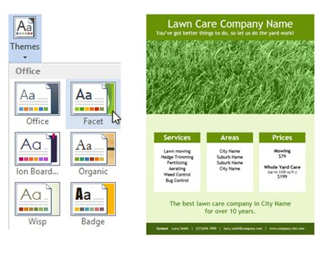 Lawn Care Flyer Template For Word Lawn Care Template