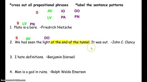 sentence pattern types basic sentence pattern for grade 7 bju press writing and